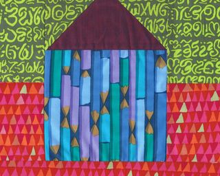 Pencil house block