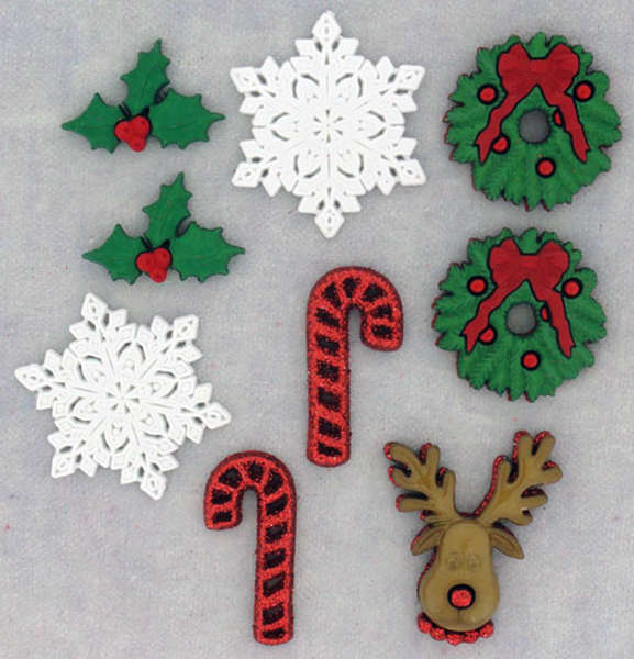 Holiday buttons