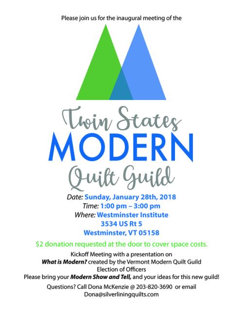 Modern Quilt Guild Flyer